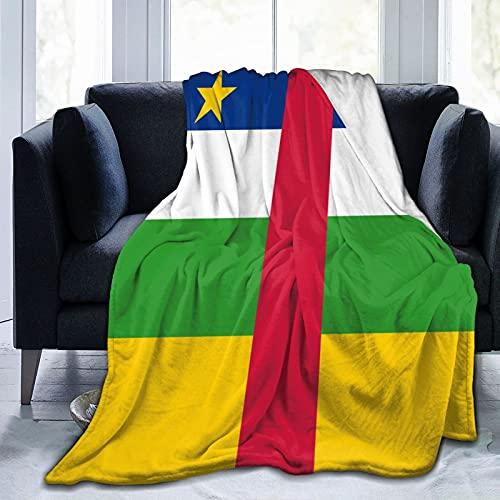 Flanelldecke mit Flagge der Zentralafrikanischen Republik, flauschig, bequem, warm, leicht, weich, Überwurf für Sofa, Couch, Schlafzimmer