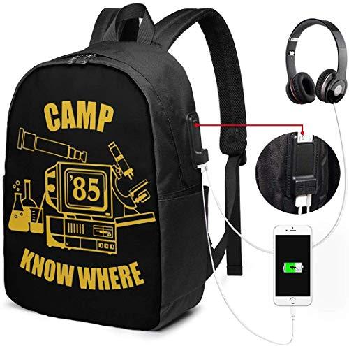 Kamp Weet Waar Waterdichte Laptop Rugzak met USB Opladen Poort Hoofdtelefoon Past 17 Inch Laptop Computer Rugzakken Reizen Dagtas School Tassen voor Mannen Vrouwen