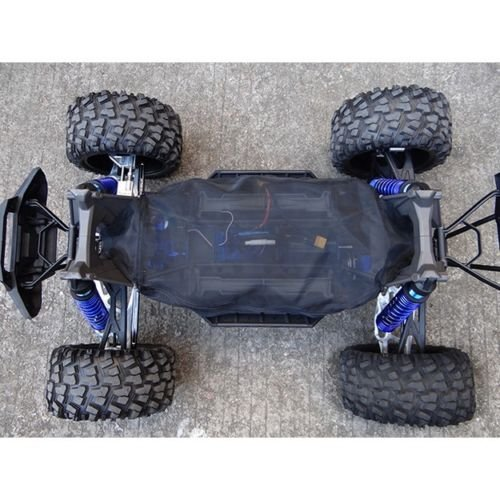 CrazyRacer for 1/5 6S & 8S RC Car 77076-4 Truck Chassis Dirt Dust Resist Guard Cover -1SET Black
