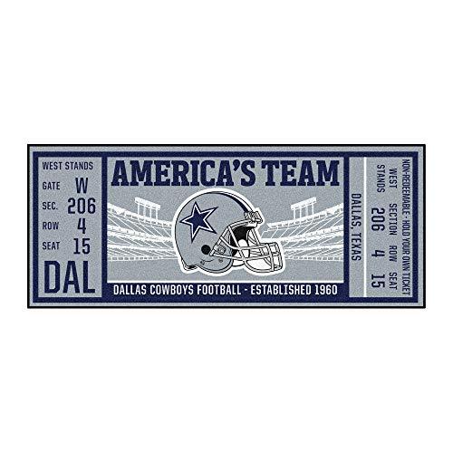 FANMATS NFL Dallas Cowboys NFL-Dallas Cowboysticket Runner, Team Color, One Size