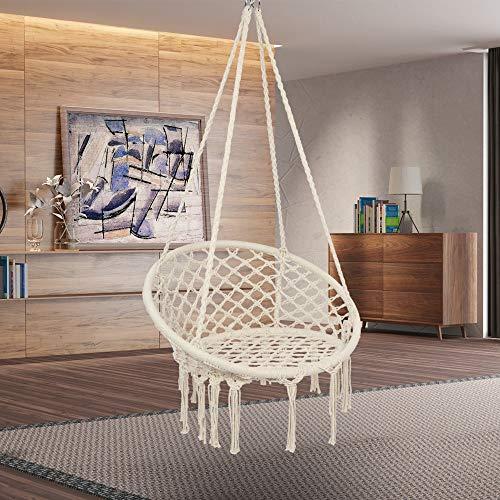 Detectoy Hanging Chair, Holds up to 120 kg, Scandinavian, for Living Room, Bedroom, Terrace, Balcony, Garden