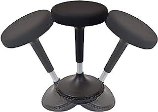 Para ejercicios de equilibrio taburete altura ajustable activo sentado silla de oficina ergonómico giratorio de función atril, altura máxima para. Mejor Estabilidad Perca escritorio de pie piel