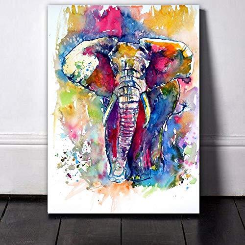 FPUYB Animal Elefante Colorido s Simple y Rompecabezas de Tangram para Adultos...