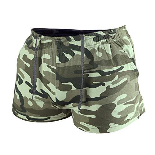 Muscle Alive Hombres Deportes Al Aire Libre Corriendo Pantalones Cortos Rutina Be Ejercicio Aptitud Fondo con Bolsillos