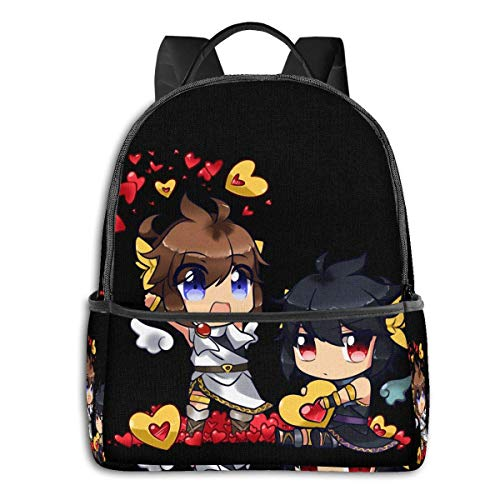 IUBBKI Mochila lateral negra Mochilas informales Anime & Kid Icarus - (Chibi) Pit & Dark Pit Classic Student School Bag School Cycling Leisure Travel Camping Outdoor Backpack