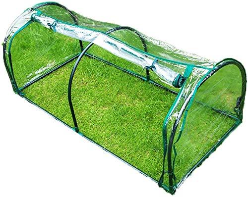 ETNLT-FCZ Mini-Gewächshauszelt Indoor Outdoor Garten Blumentopf Abdeckung Patio Blumenschutz Mit Stahlrohrrahmen (Color : Clear-2pcs, Size : 130x60x50cm)