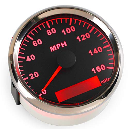 ELING Warranted MPH GPS Speedometer Odometer 160MPH For Car Motorcycle Tractor Truck With Backlight 85mm 12V/24V