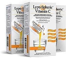 Lypo–Spheric Vitamin C – 3 Cartons (90 Packets) – 1,000 mg Vitamin C & 1,000 mg Essential Phospholipids Per Packet –...