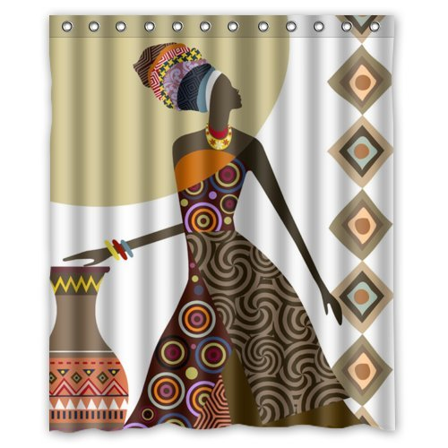 ZHANZZK African Woman Bathroom Shower Curtain 60x72 Inches