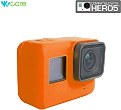 WoCase GoPro HERO5 Camera Silicone Protective Case Frame Housing (Orange) for GoPro HERO5 Lens Protection Anti-Scratch