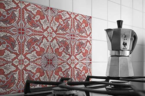 Adhesivo de vinilo para azulejos de cocina o baño, diseño floral holandés