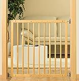 Reer 46211 - Puerta de seguridad para nios con cerrojo, 106 cm, color: madera - natural