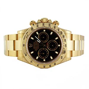 Rolex Daytona 18K Yellow Gold Black Dial Watch