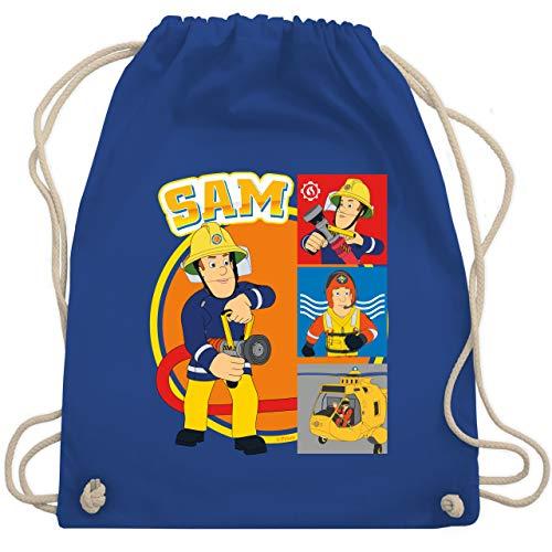 Shirtracer Feuerwehrmann Sam Tasche - Sam - Unisize - Royalblau - WM110_Stoffbeutel - WM110 - Turnbeutel und Stoffbeutel aus Baumwolle