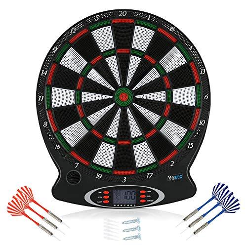 AYNEFY Dartscheibe,1pc Professional elektronische hängende Dartscheibe LCD Scoring Indicator Dart Spiel mit 6pcs Darts