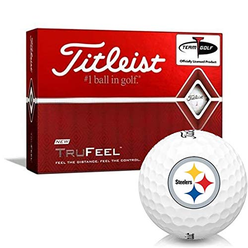New Titleist TruFeel Pittsburgh Steelers Golf Balls