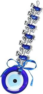 BESPORTBLE Blue Evil Eye Decor Hanging Crystal Suncatcher Ornament Rainbow Maker Crystal Ball Prism Pendant for Home Car D...