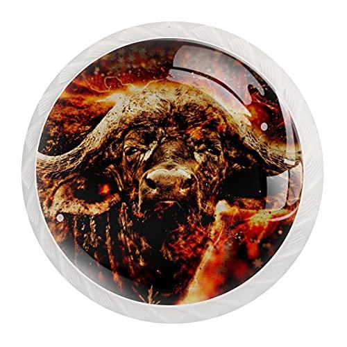 Paquete de 12 pomos y tiradores de patrón de búfalo para cómoda de cajones, armario, muebles de armario, tiradores para casa, cocina, dormitorio