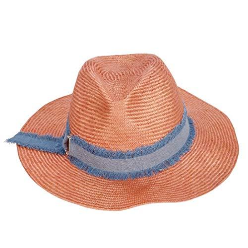 LIBILAA Oranje Dames Hoed Strand Zonnebrandcrème UV Cowboy Straw Hoed