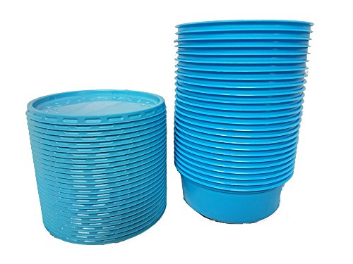 Bait Holders for Live Bait - 8 oz. Bait Cups with Lids 25 Count
