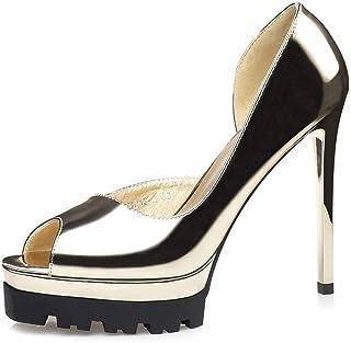 Ying-xinguang Shoes Fashion Stiletto Side Fish Mouth Single Shoes Fashion Women's Shoes Women's High Heel Comfortable