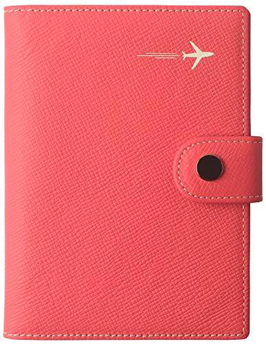 Passport Holder Cover for Women US Slim Ultra RFID Blocking family 2 Passport Wallet Card Case Organizer Strawberry Red