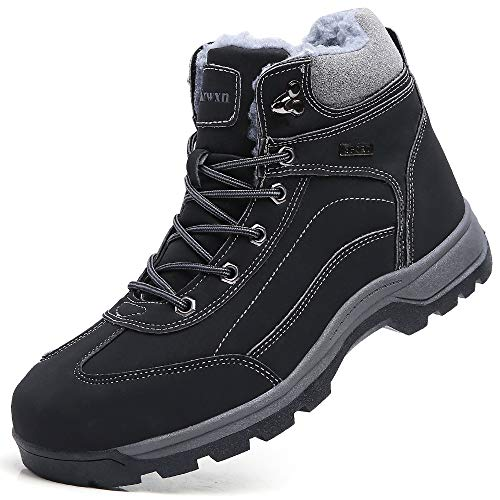 snow boots for men winter shoes waterproof cold weather boots fur warm boots outdoor hiking ankle boot