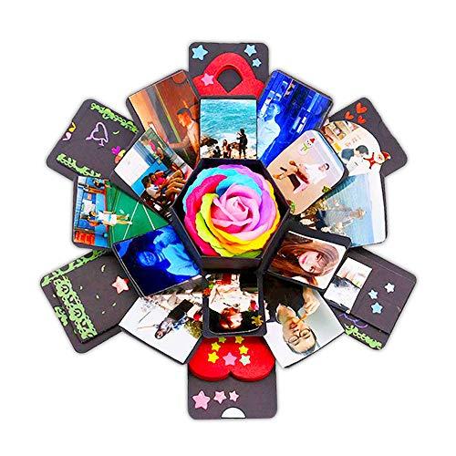 Explosion Box Album creatieve hexagon DIY geschenk foto verzamelalbum handgemaakte verrassing box voor verjaardag jubileum bruiloft Kerstmis