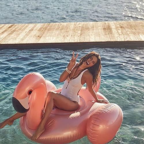 Lady of Luck Aufblasbarer Flamingo Luftmatratze Aufblasbarer Flamingo Pool Floß, Aufblasbar Schwimmen Floß PVC Aufblasbarer Schwebebett Wasserspielzeug