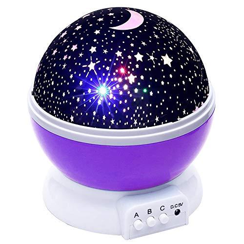 YChoice365 Proyector de luz nocturna, lámpara nocturna de rotación, proyector de estrellas