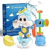 SPIELRIESE Badewannenspielzeug Set - BPA frei - Badespielzeug Baby - Wasserspielzeug zum Planschen in Badewannen - Wasser Spielsachen für Bad und Planschbecken