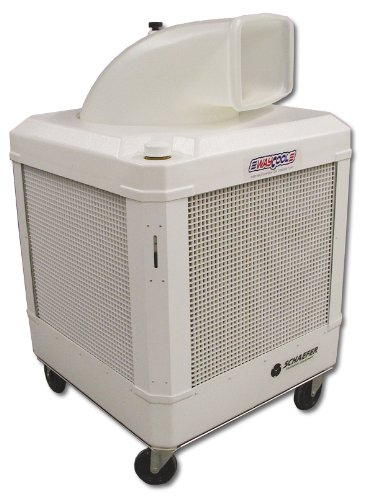 WAYCOOL Schaefer 1 Hp Portable Evaporative Oscillating Manual Fill Cooler w/Auto Shut-off