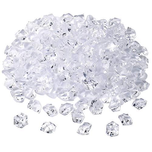 kuou 150Pcs Clear Ice Rocks, 1.1 * 1.4cm Acrylic Ice Rock Fake Diamonds...