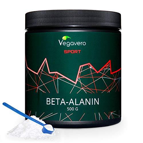 Beta Alanina Vegavero Sport | 99.2% PURA | LA ÚNICA SIN ADITIVOS | Testada en Laboratorio | Recuperador Muscular + Rendimiento | 500 g | Aminoácidos Post Workout | Repair Muscle