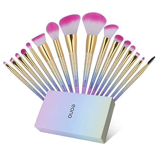 Eono by Amazon - Make Up Pinsel Set 16 Stück Professionelle Pinselset Kosmetik, Kosmetikpinsel...