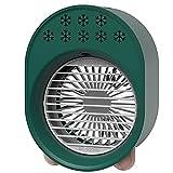 Mini Aire Acondicionado Portátil, Enfriador de aire Portátil, Mini Aire Acondicionado Humidificador Purificador Fan de enfriamiento USB, con 2 velocidades de ventilador, Aire acondicionado móvil para