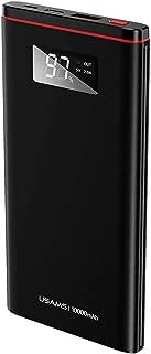 Brandtrendy Power Bank Universal Carga Rápida Automática QC 3.0 Doble Puerto de Carga (Negro, Ultra Thin QC3.0+PD)