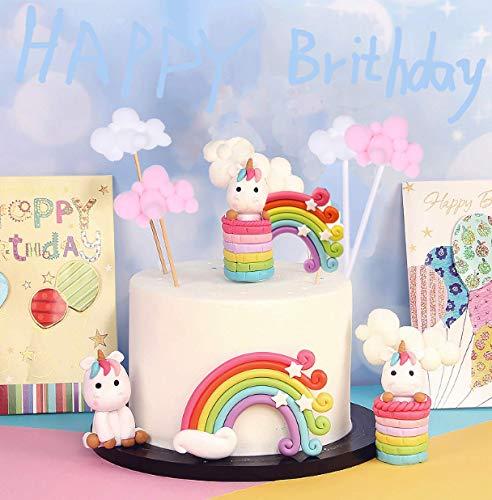 Sunshine smile Rainbow Cake Toppers,Arco Iris Decoración de Pasteles,Cupcake Topper Set,Adorno de Pastel de Bebe,Decoracion Tarta Unicornio (1)