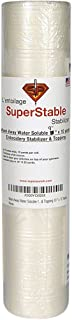 Wash-Away Water Soluble Stabilizer 9 inch x 10 Yard Roll. SuperStable Embroidery Stabilizer & Topping