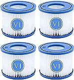 LPFNSF VI Cartucho de filtro de repuesto para piscina, filtro VI de repuesto para Lay-Z-Spa, para filtro de piscina Flowclear Bestway VI, para Miami, Vegas, Monaco, tamaño 6-58323 (4 unidades)