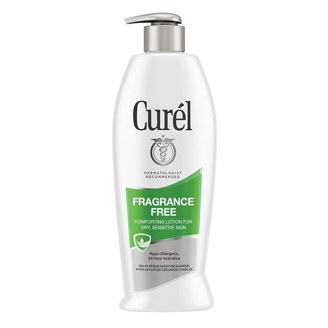 番目小売さまようCurel Continuous Comfort 24-Hour Daily Moisturizing Lotion For Dry Skin Fragrance Free 385 ml (並行輸入品)