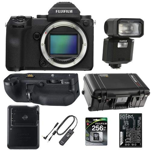 Affordable Fujifilm GFX 50S 51.4MP Medium Format Mirrorless Camera Body - Bundle with Fuji VGGFX1 Ve...