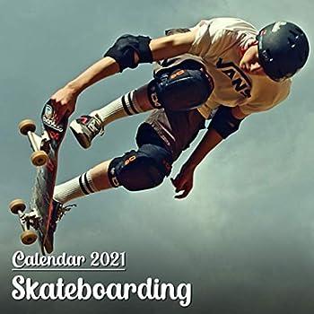 Calendar 2021 Skateboarding  Beautiful Skateboarding Photos Monthly Mini Calendar   Small Size