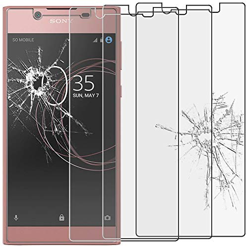 ebestStar - kompatibel mit Sony Xperia L1 Panzerglas x3 L1 Dual Schutzfolie Glas, Schutzglas Bildschirmschutz, Bildschirmschutzfolie 9H gehärtes Glas [Phone: 151 x 74 x 8.7mm, 5.5'']
