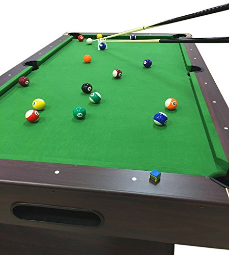 8 Ft Pool Table Billiard Playing Cloth Indoor billiards table new - LEONIDA Green, all accessories included! FULL OPTIONAL