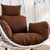 Cojín para Silla Colgante, Silla de Patines en Forma de Huevo para sillas de Mimbre Que cuelgan con Almohada Desmontable Nido Grueso