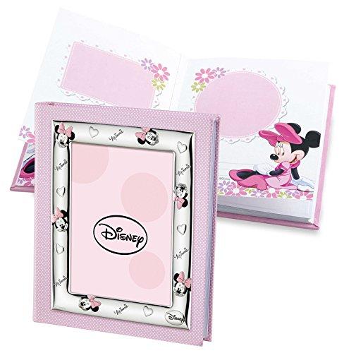 Disney Baby - Album photo Minnie Mouse avec cadre sur la couverture - cadeau pour baptême/anniversaire
