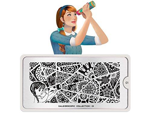 Nail Art - MoYou estampage modèle - Kaleidoscope 01