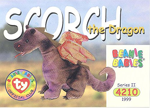 BBOC Cards TY Beanie Babies Series 2 Common - Scorch The Dragon