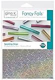 Gina K. Designs for Therm O Web Sparkling Silver Gina K Designs Fancy Foil 6'X8' 12/Pkg, Count